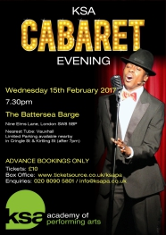 London Drama School KSA Academy of Performing Arts Cabaret Evenings The Battersea Barge