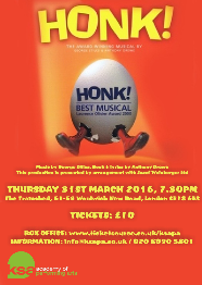 London Drama School KSA Academy of Performing Arts Musical Theatre Course Production Honk! The Tramshed Woolwich
